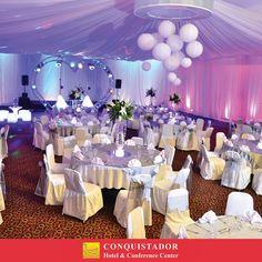En Hotel Conquistador tenemos 16 salones a tu elección para que puedas realizar tus eventos, un excelente servicio. Pregunta por nuestros paquetes. Llámanos !!! Tel. 2424-4444