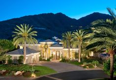 This home is surrounded by incredible mountains and palm trees. Paradise Valley, AZ Coldwell Banker Residential Brokerage