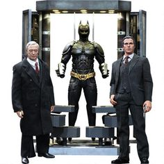 The Dark Knight Rises Batman Armory with Bruce Wayne and Alfred Pennyworth by Hot Toys