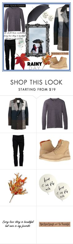 """""""A nice day to fall in LOVE"""" by young-and-freeeee ❤ liked on Polyvore featuring Stephan Schneider, prAna, Valentino, Timberland, Pasotti Ombrelli, National Tree Company, Kate Spade, DutchCrafters, rainyday and goblin"""