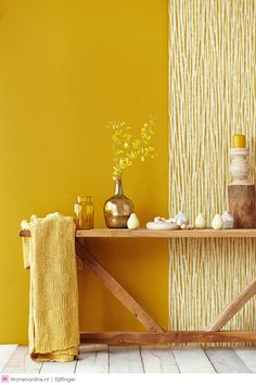 "Amaliada Texture Wallpaper from the Savor Collection by Brewster Home Fashions My Time, bath bedding' Dreamy Bath & Bedding sets "" Yellow Accent Walls, Yellow Wall Decor, Yellow Walls Living Room, Yellow Rooms, Living Rooms, Mustard Yellow Walls, Yellow Bathrooms, Yellow Kitchens, Yellow Interior"
