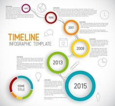Free Creative Business Timeline Infographic Template Vector » TitanUI