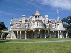 Elm Park / Lockwood - Mathews Mansion, Norwalk, Ct bluelibris Flickr site New England States, New York Homes, August 27, Victorian Homes, Connecticut, Vermont, Custom Homes, Castles, Scotland