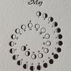 letter pressed lunar calendar