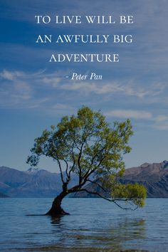 To live will be an awfully big adventure - Peter Pan | Travel Quote | Inspirational Quotes