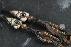 Long Tribal Feather Earrings by Sparrowtaledesign on Etsy