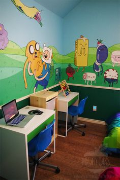 Awesome Adventure Time Themed Bedroom