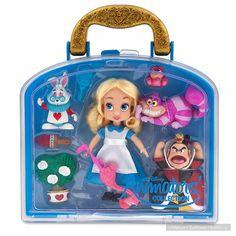 39bb812f638 Disney Store Animators Collection Alice in Wonderland Mini Doll Play Set 5