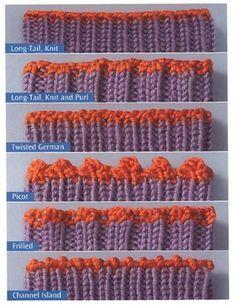 Different types of bind offs....The Sock Knitter's Handbook » Knit Picks Knitting Blog.                                                                                                                                                                                 More