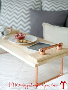 DIY Copper & Wood Lap Tray $24.99 + shipping All materials and instructions needed to make this glorious decor item are prepackaged and ready to ship for your next DIY project! *required tools can also be added*