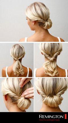 ¡Sigue este sencillo DIY y luce espectacular en minutos! #hair #hairstyle #formal #event #DIY #cool #woman