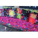 Odile Bailloeul creates fabrics in Velvet and cotton - Border and coupons. - La…