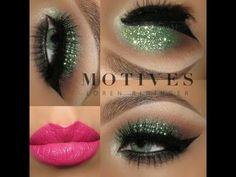 Motives®: Green Glitter Look by Janine Hoen | Motives Cosmetics