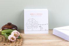 Faire-part de mariage Promesse champêtre by Marion Bizet pour www.Rosemood.fr #rosemood #atelierrosemood #wedding #announcement