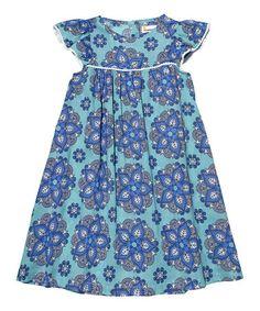 Look at this #zulilyfind! Dark Turquoise India Rose Dress - Toddler & Girls by Masala Baby #zulilyfinds