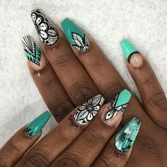 Instagram media nailsbyly - Nails inspired by @creations_by_josiah