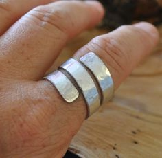 Flat Wire Wrapped Ring Silver Aluminum by LorisWireJewelry on Etsy, $13.00