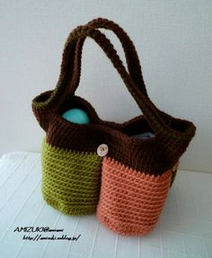 Knitting | | knitting, handicrafts, sewing | Atelier how to make colorful bag ♪ partition of the four