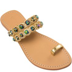Mystique Sandals features unique hand crafted leather women's sandals that are embellished with jewelry Cute Sandals, Shoes Sandals, Mystique Sandals, Jeweled Sandals, Leather Sandals Flat, Embellished Sandals, Shoes With Jeans, Pretty Shoes, Wedding Shoes