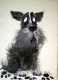 Dogs in Art Gallery - Terrier by Barry Daiper, £75.00 (http://www.dogsinart.com/products/Terrier-by-Barry-Daiper.html/)