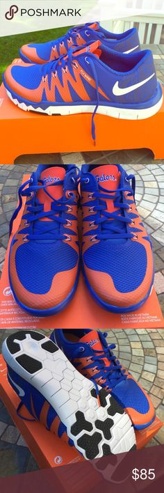 344a726fe2ac Brand New Nike Free Trainer 5.0 Official FL Gators Official Florida Gator  Nike Free Runs .