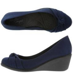 2dc2aa8e0 Check this comfy dexflex by Dexter wedge, a trendy round toe and knot  detail on