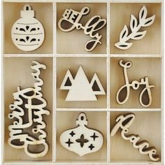 Themed Mini Wooden Flourishes 40/Pkg | Overstock.com Shopping - The Best Deals on Wood Crafts