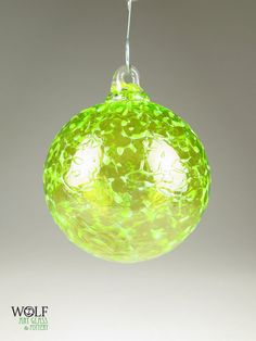 Blown Glass Christmas Tree Holiday Ornament by wolfartglass, $24.00