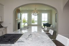 Beautiful granite in one of our custom-built homes.
