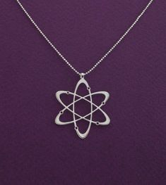 Hey, I found this really awesome Etsy listing at https://www.etsy.com/listing/176977271/diamond-carbon-atom-necklace-atom