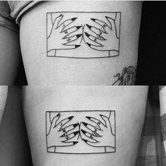 "Matching GRL PWR tats by Yi ""Squat Bod"" Stropky @chinatown_stropky #blackmedicinetattoo #vancouvertattoo #blackworktattoo (at Black Medicine Tattoo)"