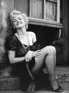 "Marilyn Monroe on the set of ""Bus Stop"", photographed by Milton Greene, 1956."