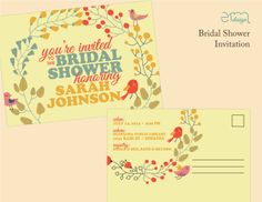 Affordable Custom Designed Bridal Shower Invitation by EmDesign emdesignia.com