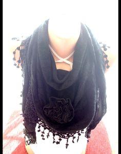 Schwarz Gewirke Schal, Schal-Schal