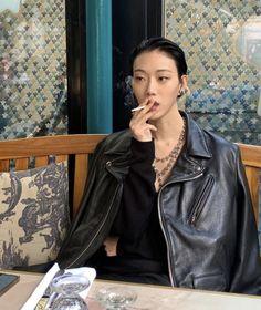 Sora Choi, Photo Dump, Leather Jacket, People, Photography, Jackets, Scorpio, Outfits, Archive