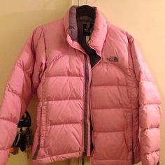 Northface Pink Ski Jacket In very good condition bought from Nordstrom. I just don't wear it anymore. Very nice. North Face Jackets & Coats Puffers