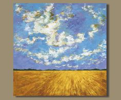 abstract art abstract painting prairie by SageMountainStudio