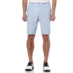 Ben Hogan Men's Golf Performance Flat Front Seersucker Short, Blue