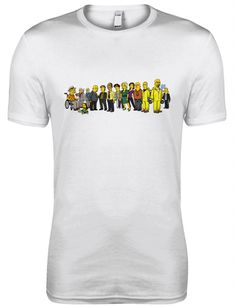 Simpsons BREAKING BAD T-shirt. Black/White/Grey/Charcoal/Navy S M L XL XXL