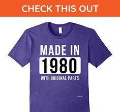 Mens Made in 1980 T Shirt Born in 1980 Shirt Birthday Gifts July 3XL Purple - Birthday shirts (*Amazon Partner-Link)