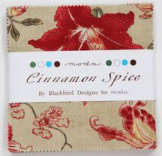 CINNAMON SPICE by Moda CHARM PACK #2700PP cotton quilt fabric BLACKBIRD DESIGNS