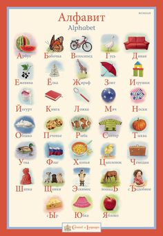 Children's Russian Alphabet Poster by CarouselofLanguages on Etsy