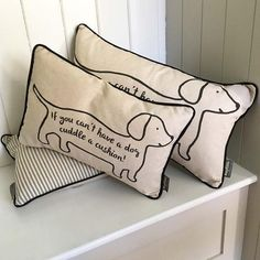 'If you can't have a dog...' cuddle cushion
