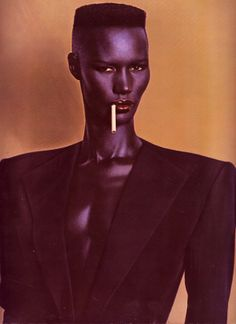 Grace Jones is known for many roles during her years in the spotlYou can find Fashion magazine and more on our website. Cool Pictures, Cool Photos, Amazing Photos, Types Of Portrait, Shave Her Head, Strength Of A Woman, Grace Jones, Father Daughter Dance, First They Came