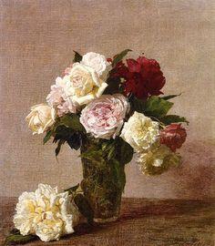 Still Life Vase Of Hydrangeas And Ranunculus - Henri Fantin-Latour - WikiArt.org