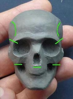 "Start with hardened gumpaste ""skull"" then add fondant for sculpting. Sculptures Céramiques, Polymer Clay Sculptures, Polymer Clay Dolls, Polymer Clay Projects, Sculpture Clay, Clay Crafts, Anatomy Sculpture, Sculpting Tutorials, Toy Art"