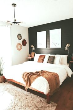 50 Modern Bedroom Design Ideas That Make You Look Twice - If you enjoy flipping through décor magazines to keep up with the latest trend in bedroom design, you must already be aware of modem bedroom theme. Master Bedroom Design, Dream Bedroom, Home Decor Bedroom, Modern Bedroom, Bedroom Ideas, Bedroom Wall, Minimalist Bedroom, Bed Room, Home Interior