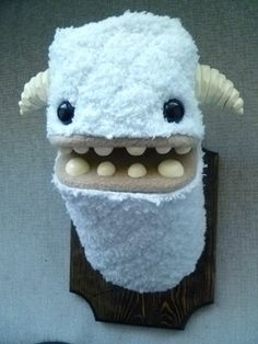 Yeti's from Yetis and Friends: The Item Shop take the prize! Just look at those teeth! They had to file 'em down just to make them safe enough to mount on your wall! Awesome!
