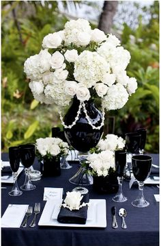 black and white vase with carnation - Google Search