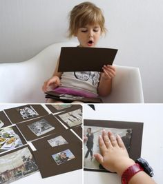 Newspaper story starters...kids make up their own stories from pictures out of the paper or a magazine.